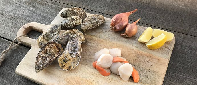 Tartare classique d'huîtres et de coquilles Saint-Jacques